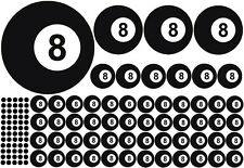 87 piezas billar BOLA POOL Lucky 8 Bolas de billar Pegatina Bola número ocho V8