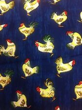 Country Rooster Hen Cockerel craft fabric material Spotlight Stores 100% cotton
