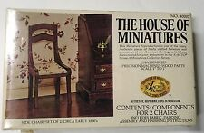 House Of Miniatures Doll House Furniture Kit 40007 Set of 2 Side Chairs NEW 1977