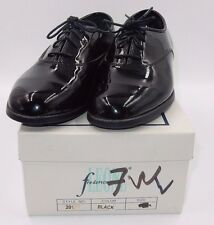 """AFTER SIX """"ROUND TOE JAZZ"""" BARCLAY PATENT TUXEDO OXFORDS DRESS SHOES ~ SIZE 7 W"""