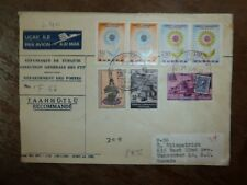 Turkey Europa Flower A/M cover to Canada, seven stamps (30bea) (32bea)