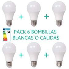 PACK 6 BOMBILLAS 4W LUZ BLANCA O CÁLIDA E27 BOMBILLA LED OSSUN AHORRO ENERGÍA