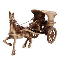 Horse Carriage / Horse Cart Ornament Brass Statue Figurine Home Decor Cute