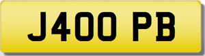 PB 4 OPB 40 FORTY INITIALS Private CHERISHED Registration Number Plate J40