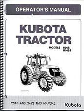 Kubota M96S M108S TRACTOR Operator's Manual 3N600-99715