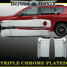 2007-2016 JEEP COMPASS Triple Chrome Door Handle Covers Trims Overlays