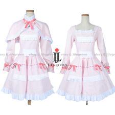 Another Mei Misaki LO Pink Dress Cloak Uniform COS Cloth Cosplay Costume