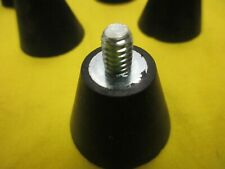 TAPERED SOLID  RUBBER FEET with  1/4-20 threaded stud  , NEW & FREE SHIP FOR 24+