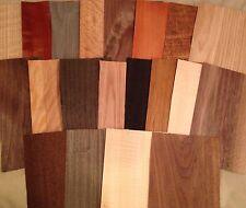 "65 pieces 5"" x 8""  Mixed Wood Veneer variety pack Artist craft exotic sample lot"