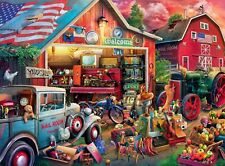 """1,000-Piece """"Antique Barn"""" Jigsaw Puzzle. Complete."""