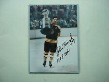 1970`S NHL HOCKEY PHOTO JOHNNY BUCYK HOF STANLEY CUP AUTHENTIC AUTOGRAPH AUTO