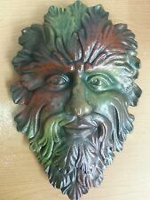 "17/"" Vintage Green Man Woman Wall Plaque Greek Art Tree Goddess"