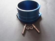 VW G60 INTAKE FLANGE ADAPTER CNC MADE ANODISED BLUE, GOLF RALLYE CORRADO GOLF