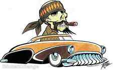 Sancho Low Rider Sticker Decal Artist The Pizz P66