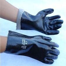 "120 Pair PVC 12"" Chemical Liquid Water Resistance Long Wrist Work Gloves Large"