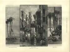 1883 Cairo Bedouin Encampment Boatman's Cottages Street Geb-el-almar