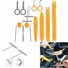 12Pcs Car Radio Door Panel Trace Clip Trim Removal Audio Plastic Repair Pry Tool