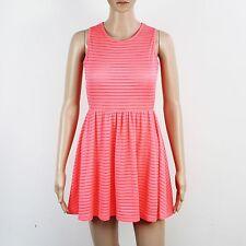 TopShop Womens Size 4 6 Fluro Pink Dress