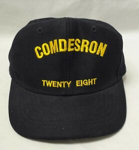 COMDESRON Twenty Eight Baseball Cap Hat USN Navy Destroyer Squadron 28 Naval
