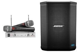 BOSE S1 PRO Powered Rechargeable PA Speaker Monitor w/Bluetooth+Wireless Mics