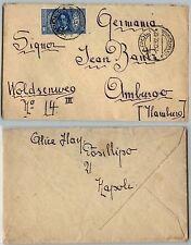 REGNO-1,25L(310)PRO DANTE ALIGHIERI-Busta Napoli->Amburgo(Germania) 1.12.1932