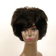 perruque afro femme 100% cheveux naturel carré méchée noir/cuivré LAET 07/1b30