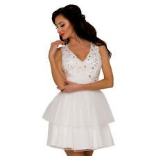 Ärmellose Brautkleider aus Polyester in Kurzgröße