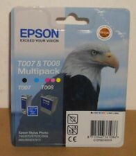 Epson T007 T008 Ink Black and Color Stylus Photo 790 870 875 DC 890 895 900 915