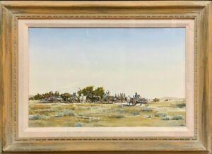 Santa Fe Western Art Morris Rippel Original Art Watercolor Eitlejorg Painting