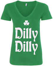 Dilly Dilly St. Patrick's Day Women's V-Neck T-Shirt Irish Beer Shamrock