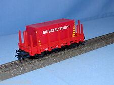 Marklin 44159 DB Rungenwagen RED Feuerwehr with Container