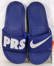 Nike Womens Benassi JDI Print QS Paris Sandals Sz 8 Blue/Silver 715870-404 NIB