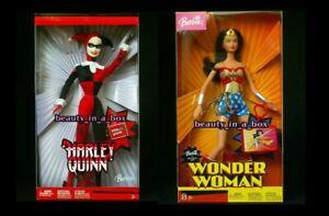 Wonder Wonder Harley Quinn Barbie Doll Super Hero Shelf Wear Box Lot 2 2003
