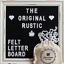 144Pcs letter Number Felt Message Board 25x25 Wood Frame Blackboard Message Sign