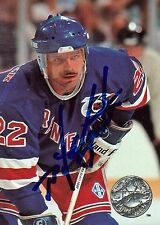 MIKE GARTNER Signed Autographed 1991 ProSet Hockey Card, Rangers