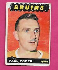 1965-66 TOPPS # 40 BRUINS PAUL POPIEL ERROR ROOKIE  CARD (INV# C1195)