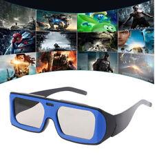 Circular Polarized Passive 3D Stereo Glasses Blue+Black Frame For 3D TV Cinema