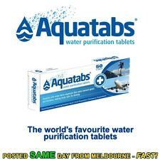 Aquatabs 50 pack water purification tablets treatment cheapest hiking camping