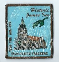 Historic James Inn 1995 Clay Platte Trackers patch 3-1/2 X 3  #37