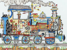Bothy Threads Cross Stitch Kit - Cut Thru' Steam Train