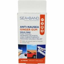 Sea-Band Anti-Nausea Ginger Gum For Travel and Morning Sickness 24 Pieces Each