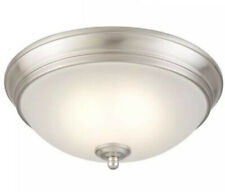 Commercial Electric 11 in. 60-Watt Equivalent Brushed Nickel LED Flush Mount