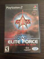 Star Trek: Voyager - Elite Force (PlayStation 2, 2001) - TESTED - COMPLETE - PS2