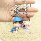2PC Lovely Cartoon Boy/Girl Pendant PVC Keychain Keyring Couple Gift Fit Handbag