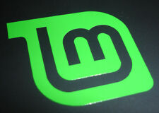 Linux Mint Logo Vinyl Laptop Sticker - Open source, Linux, Tux - (Green) 50mm