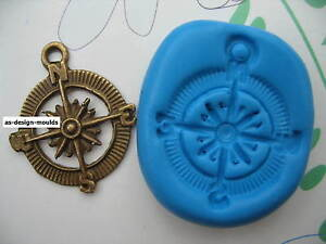 Ships Compass Boat/Sailing Silicone Mould/Mold Sugarcraft,Cupcakes,Cake Toppers