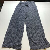Knox Rose Blue Boho Print Pull On Pants Sz Small A2081