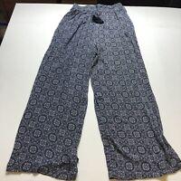 Knox Rose Blue Boho Print Pull On Pants Sz Small A2081