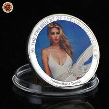 WR Ivanka Trump Versilberte Münze US Präsident Familie 3D Medaille Silberbarren