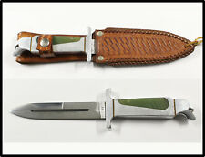 Vintage SUPER NICE custom knife boot dagger leather sheath mark CB unknown LOOK